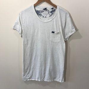 Scotch & Soda White and Blue T-Shirt Size XL